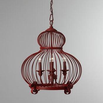 Red 'Birdcage' Pendant, Neiman Marcus