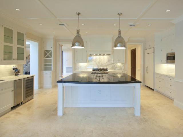 Superior View Full Size. Beautiful Custom U Shaped Kitchen With Limestone Tiled  Floors ...