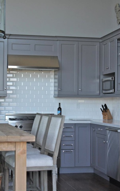 Gray Cabinets Transitional Kitchen William Adams Design