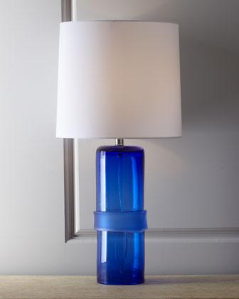 U0027Topheru0027 Cobalt Band Table Lamp   Neiman Marcus