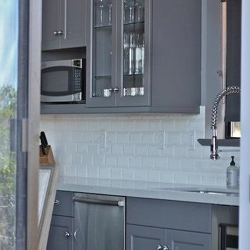Gray kitchen cabinets transitional kitchen william for Chocolate kitchen cabinets with stainless steel appliances