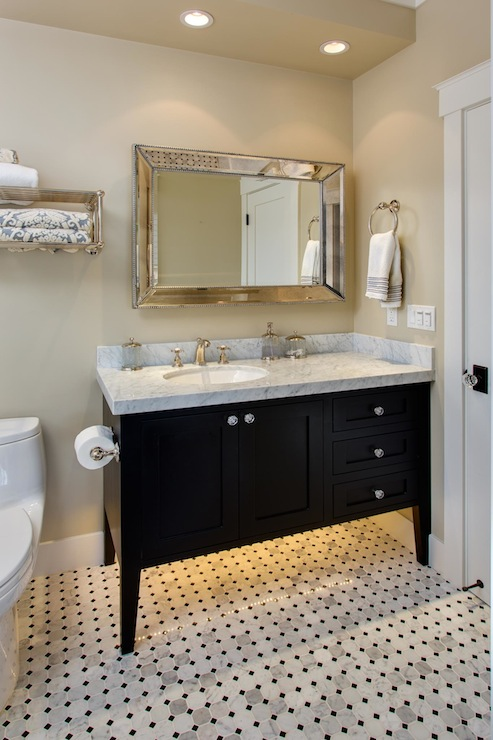 Black bathroom vanity transitional bathroom latala homes - Black and beige bathroom ...