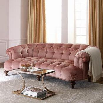 'Brussel Blush' Tufted Sofa, Neiman Marcus