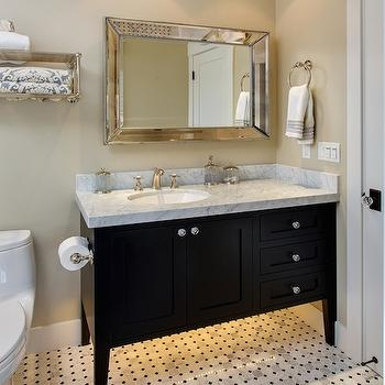 Beige bathroom walls design decor photos pictures ideas inspiration paint colors and remodel - Black and beige bathroom ...
