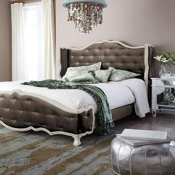 Taupe 'Tabitha' Tufted Bed, Neiman Marcus