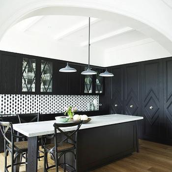 Black Kitchen Cabinets, Contemporary, kitchen, Greg Natale