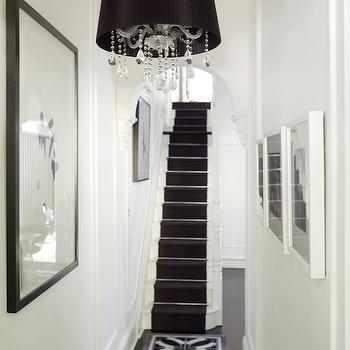 Black and White Hallway, Transitional, entrance/foyer, Greg Natale