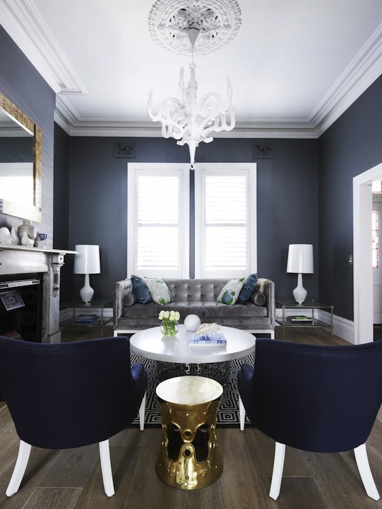 Blue and gray living room contemporary living room - Grey and blue living room furniture ...