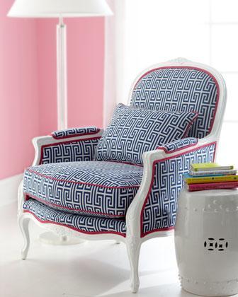 U0027Johannau0027 Upholstered Armchair   Neiman Marcus