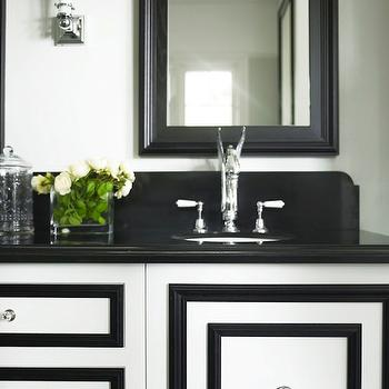 White and Black Vanity, Transitional, bathroom, Greg Natale