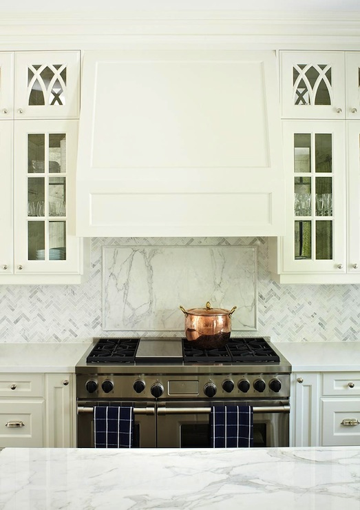 gorgeous white kitchen with white kitchen cabinets and