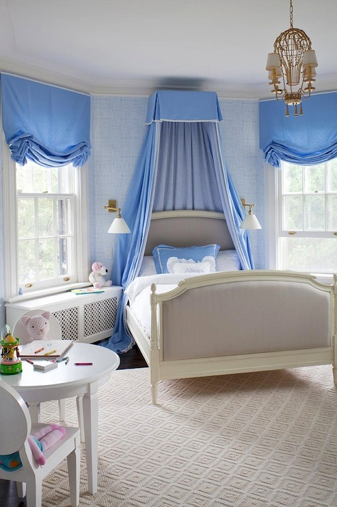 Gray French Twin Canopy Bed Design Ideas