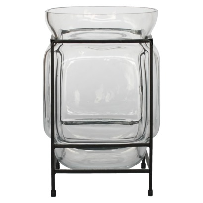 Glass Terrarium With Metal Stand Look 4 Less And Steals And Deals