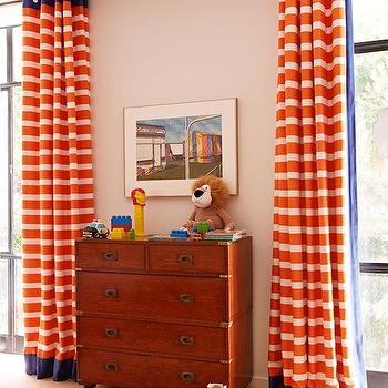 Orange Curtains, Traditional, boy's room, Anne Hepfer Designs