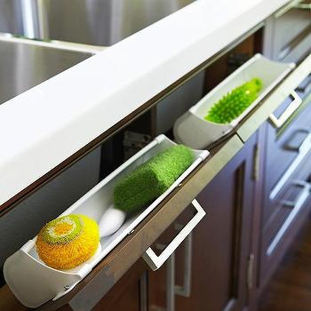 Hidden Kitchen Design. Tilt Out Sponge Drawer Hidden Kitchen End Panel Cabinet Design Ideas