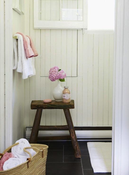 Cottage Style Bathroom Floor Tile : Slate bathroom floor design ideas