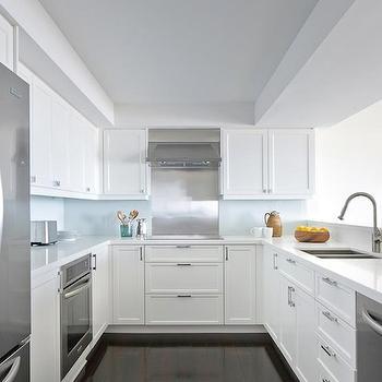White Shaker Kitchen Cabinets, Contemporary, kitchen, Anne Hepfer Designs