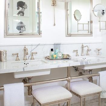 Double Vanity Ideas, Transitional, bathroom, Anne Hepfer Designs