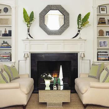 Sofas Facing Each Other, Transitional, living room, Anne Hepfer Designs