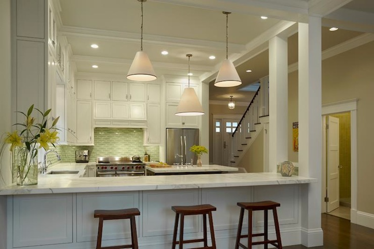 Kitchens Painted In Greens