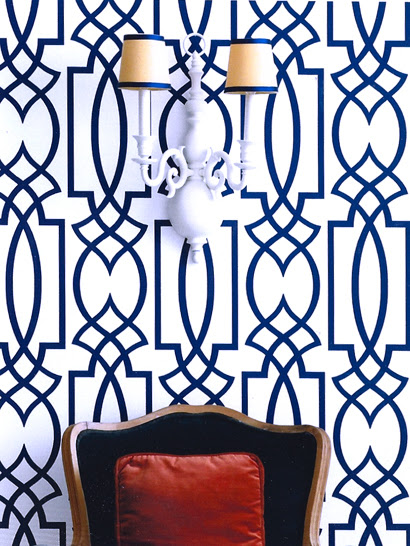 imperial trellis wallpaper