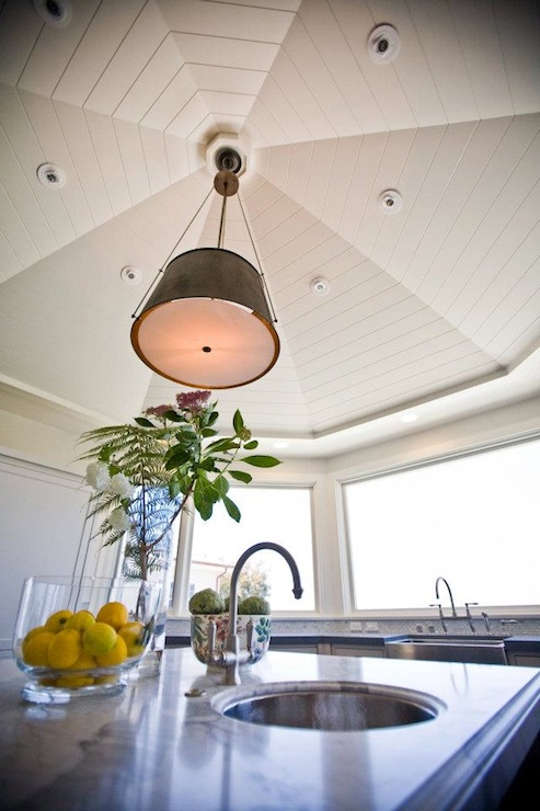 Vaulted Ceiling Lighting Dining