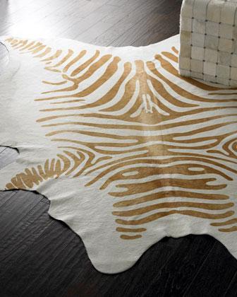Cream Zebra Hide Rug Neiman Marcus