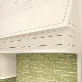 Green Geometric Tile Backsplash
