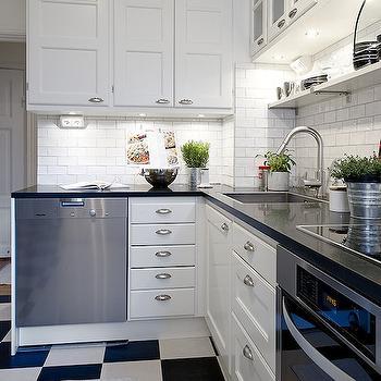 White And Black Kitchen Floor