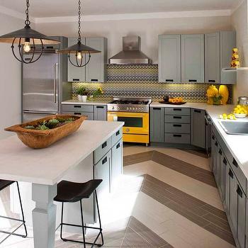 Yellow and Gray kitchen, Contemporary, kitchen, Denise Mcgaha Interiors