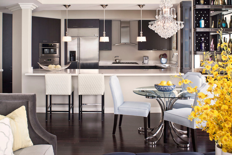open plan kitchen breakfast bar. Modern Kitchen Cabinets  dining room Jeneration Interiors