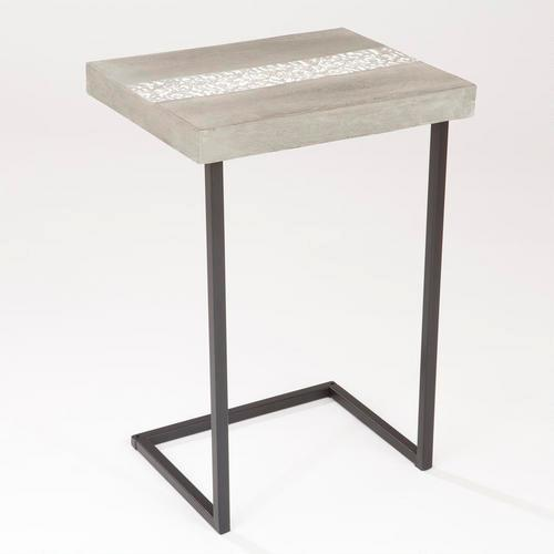 Embossed Cement Laptop Table   World Market