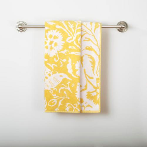 yellow  white parnavi bath towel