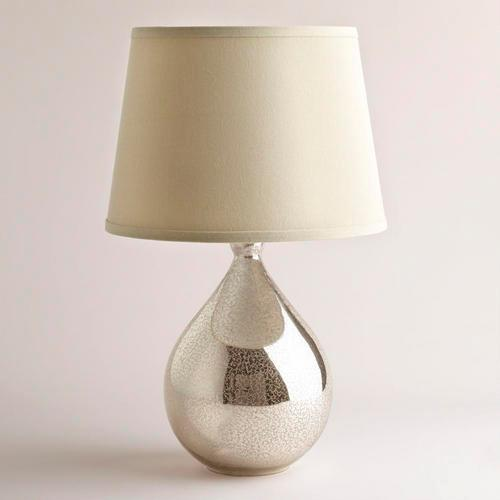 Aged Mirror Table Lamp Base - World Market:Martina Aged Mirror Table Lamp Base - World Market,Lighting