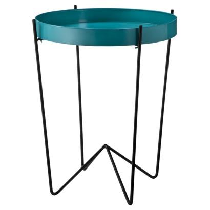 Accent Table Round Tray, Aqua   Target