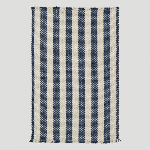view full size. Alec Navy and White Cotton Area Rug