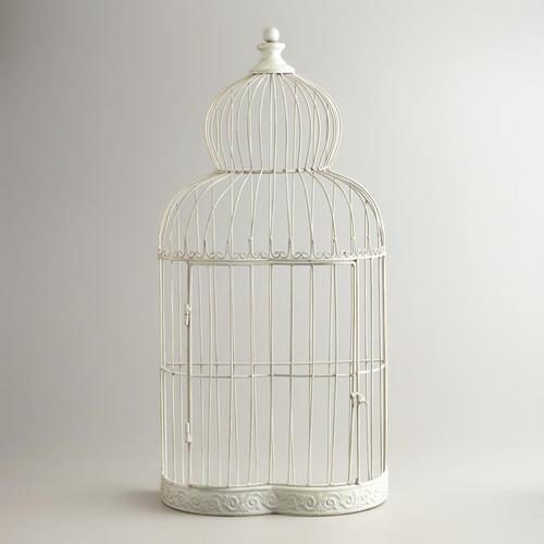 White Metal Birdcage World Market