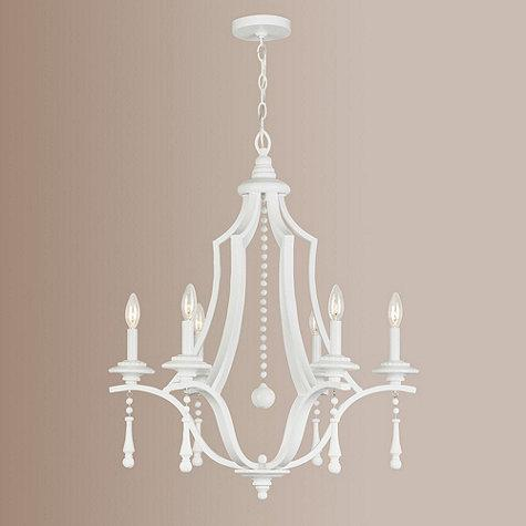 Blanc 6 light chandelier ballard designs