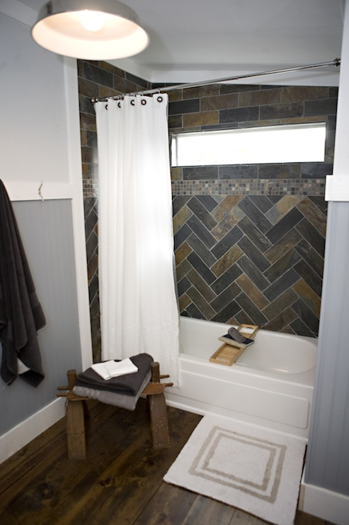 Blue boy 39 s bathroom transitional bathroom kara for Slate tile bathroom ideas