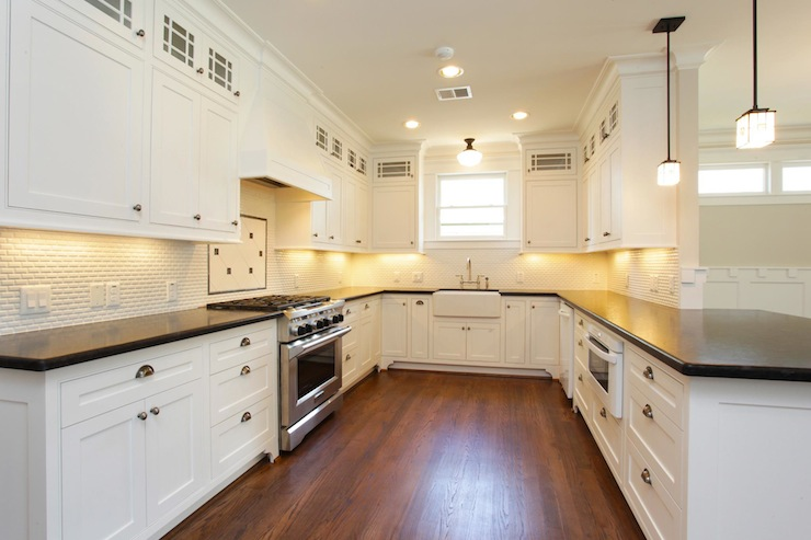 mini white subway tile backsplash traditional kitchen