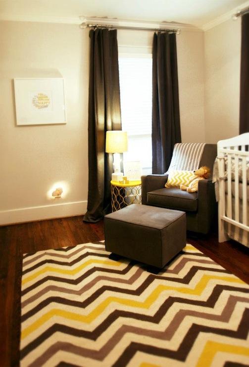 Yellow And Gray Nursery Modern Nursery Marie