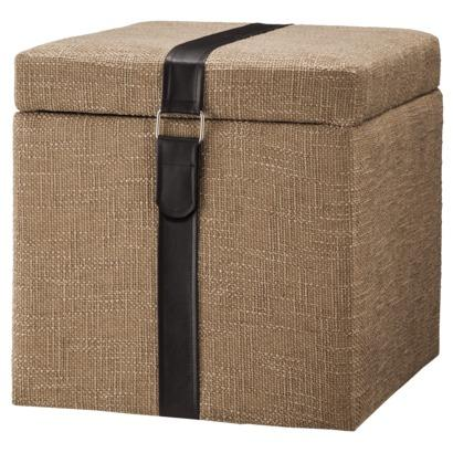 Elegant Accent Furniture Storage Ottoman, Tan   Target