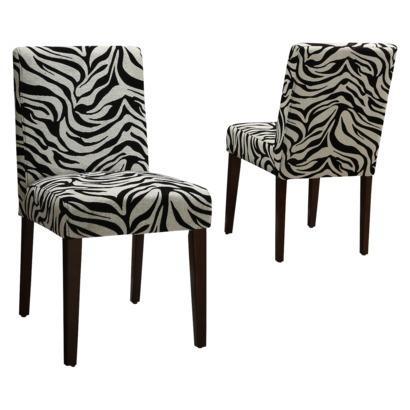 Zebra Print Chair BlackWhite Set of 2 Target