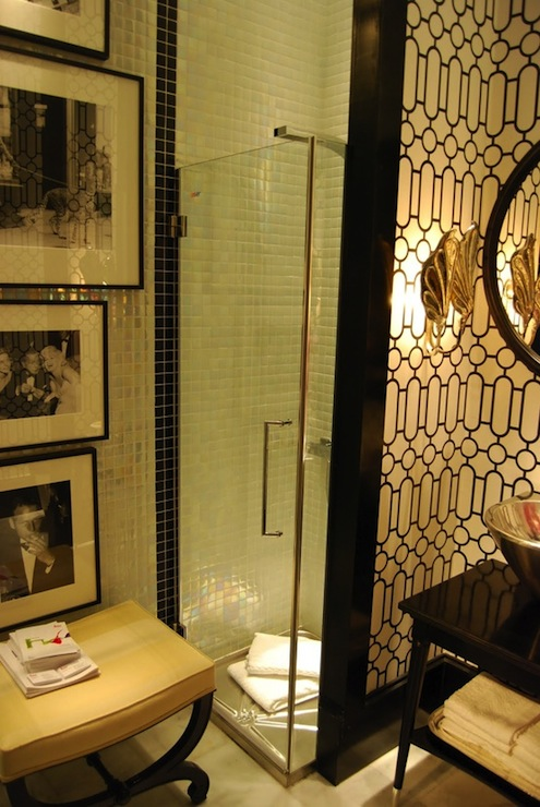 Art deco bathroom hollywood regency bathroom for Bathroom ideas art deco