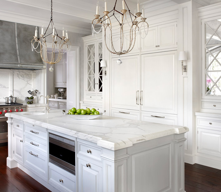 Mirrored kitchen cabinets french kitchen o 39 brien harris for Beautiful kitchen designs with white cabinets