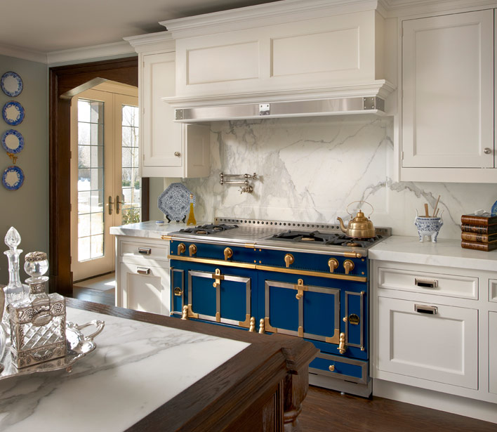 La cornue chateau transitional kitchen o 39 brien harris for French chateau kitchen designs