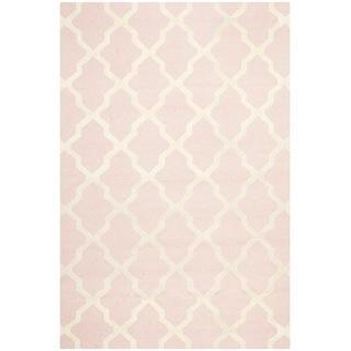handmade cambridge moroccan light pink wool rug - overstock