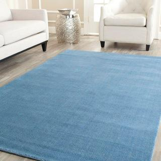 Handmade Safavieh U0027Himalayan Solou0027 Blue Wool Rug   Overstock.com