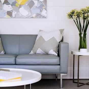 Grey And Yellow And Blue Living Room