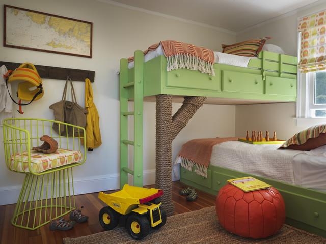 Treehouse Bunk Beds Eclectic Boy S Room Benjamin